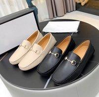 Erkek Eğlence Elbise Ayakkabı Donanım Toka Horsbit Tasarımcısı Sürüş Flats Moccasin Suit Erkekler İş Ayakkabıları 38-44