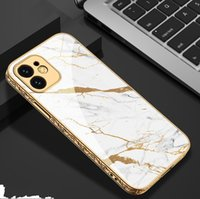 3D Tempered Glass Cases for IPhone 12 Pro max Cover Electroplating Relief Bumper Hard Back bag
