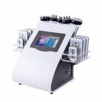 8 PADS RF вакуумная кавитация Lipo 6 в 1 лазерный 40к для похудения жир уменьшить систему машины для домашнего использования