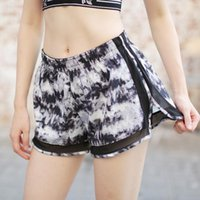 Yoga Outfits Print Women Quick Dry Shorts Breathable Workout Fitness Drawstring Short Casual Polyester Gym Sports For Womens