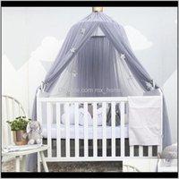 Biancheria da letto asilo nido Baby, Kids Maternity Drop Consegna 2021 Bed Baldacchino Tenda attorno a cupola Zanzara Prugna Reticolato Tenda sospesa per bambini