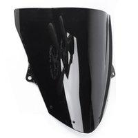 Motorcycle Black Windshield WindScreen For Kawasaki ZX6R 09-14 ZX10R 08-10