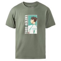 Erkek T-Shirt Haikyuu Oikawa T Shirt Erkek Nedensel Yaz Kısa Kollu Üst Vintage Anime Karikatür Gevşek Siyah Tee Gömlek 2021 Tees Kpop Tişört
