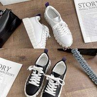 캐주얼 신발 가을 신발 어린이 두꺼운 솔직한 작은 흰색 2020 새로운 가죽 소프트 레이스 최대 단일 대학 스타일 플랫 여성 363N KKRK