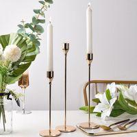 Metall Kerzenhalter Luxus Kerzenständer Mode Hochzeit Kerzenständer Exquisite Kerzenständer Candelabar Tisch Home Decor 3pcs / set