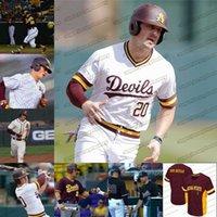 Özel Arizona Devlet Güneş Şeytanlar NCAA Koleji Beyzbol 6 Drew Swift Spencer Torkelson Marc Lidd Trevor Hauver Hunter Jump Sewn Formalar
