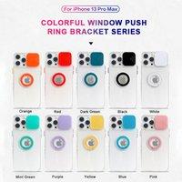 Kameraschutz Telefon Hüllen für iPhone 13 12 11 Samsung S21 Xiaomi Redmi Anmerkung 9 Gleitfenster Ringhalter Stoßfest Schutzhülle