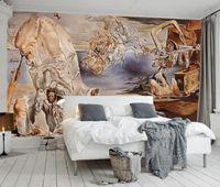 Arte moderno abstracto adhesivo personalizado papel tapiz 3d sala de estar dormitorio pintura al óleo fondo papel papeles de pared decoración del hogar