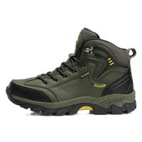 Bottines d'hiver Bottines Hommes Cuir Casual Chaussures Décontractées En plein air Camping Waterproof Working Outillage MenssNeakers
