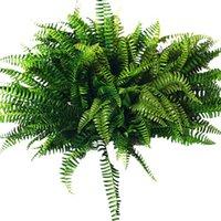 장식 꽃 화 환 10pcs 인공 보스턴 펀 부시 대통령 실크 식물 매달려 가짜 녹지 홈 장식