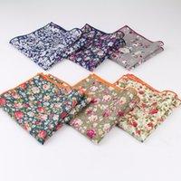 Стиль Hankerchief шарфы старинные хлопчатобумажные ченки мужские карманные квадратные платки роза цветок Пейсли