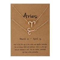 Earrings & Necklace Fashion Jewelry Twelve ZODIAC Constellations Bracelet Card Set Alloy