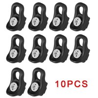 10pcs Black Kayak Canoe Boating Nylon Bungee Deck Fittings Strap Pad Eye Buckle 32*17mm High Quality Accessories