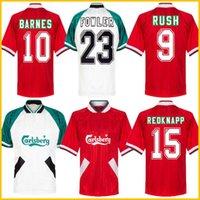 1993 1995 Barnes Rush Clough Redknapp Fowler Stewart Retro Soccer Jersey 93 94 95 Nicol Mcmanaman Fowler Vintage Clássico Futebol