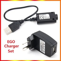 Electronic Cigarette Charger Set USB chargers Cable US EU AU Wall Adapter for EGO e EGO-CE4 T K W In stock