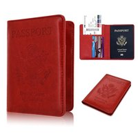 Portafoglio del portafoglio del portafoglio della custodia del passaporto del passaporto della cuoio del blocco RFID Copertura saldamente