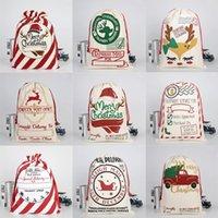 Weihnachtsgeschenkbeutel Sack Kordelzug Santa Claus Baumwolle Aufbewahrung Süßigkeiten Tasche Große Kinder Spielzeug Party Dekoration