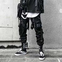 ركض البضائع السراويل للرجال عارضة الهيب هوب ضرب اللون جيب السراويل الذكور sweatpants الشارع الشهير شرائط techwear السراويل 201118