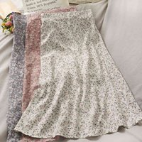 Ретро Western Style All-Match High TaY Plim Floral юбка женская напечатана средняя длина A-Line Skirt 210507