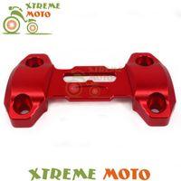 Руль красных высококачественных мотоциклов руля ручки ручки бар жирный стояк крепления зажима верхняя крышка для MT09 FZ09 MT-09 FZ-09 2013-2021 14 15