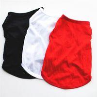 Newdog Bekleidung Haustiere Sommer T-Shirt Solide Farbe Schwarz Weiß Weste für kleine Hunde dünne atmungsaktive Outwear EWB6102