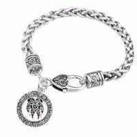 Skyrim Talisman Amulet Viking Slavic God Symbol Warding Veles Antique Bear With Lucky Knot Wheat Chain Bracelet Jewelry Gift Charm Brace Bra