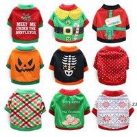 Köpek Giyim Noel Ceket Pet Cadılar Bayramı Giysi Yumuşak Sıcak Yavru Gömlek Kış Bezi Yorkies Bulldog Kostüm HWB8435