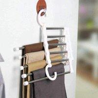 Hangers & Racks Multifunctional Hanger For Clothes Storage Closet Organizer Adjustable Pants Tie Shelf Wardrobe Trouser