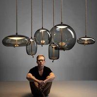 Pendant Lamps Vintage Crystal Light Globe Industrial Design Art Kitchen Chandeliers Lampes Suspendues Ventilador De Techo Hanglampen