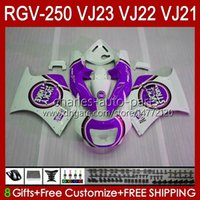 Carrocarrilos para Suzuki RGVT RGV 250 CC VJ23 RVG250 250cc Lucky Purple Cowling RGV-250CC Body 107HC.134 RGVT-250 VJ 23 1997 1998 RGV-250 Panel RGV250 SAPC 97 98 Carenado OEM