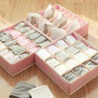 Storage Drawers Foldable Bra Drawer Box Washable Closet Organizer Underwear Sock Classify Container Wardrobe Finishing Case