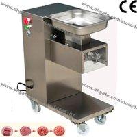 500 kg / h Edelstahl 2,5 mm-25mm kundenspezifische Klinge 110V 220V elektrische kommerzielle frische Fleisch Slicer Cutter Verarbeitungsmaschine