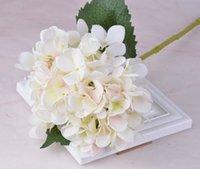 장식 꽃 파티 용품 인공 수국 헤드 47cm 가짜 실크 단일 진짜 터치 다른 색상 zze5256