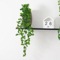Vine Leaf Fake Plant Garland Decor Plastic Green Wine Racks TV Cabinets 1pc Decorative Flowers & Wreaths
