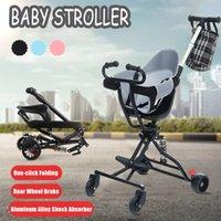 Tasarımcı Lüks Arabası Yükseltme Bebek Demir Tüp Taşınabilir Tek Anahtar Katlanır Hafif Pram Taşıma Araba