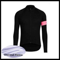 Rapha Team Cycling Fleece Mangas largas Jersey Ropa MTB Mountain Transpirable Racing Wear Bicycle Maillot Soft Skin Friendly 50549