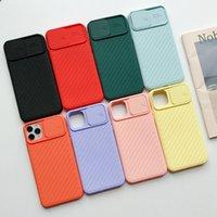 Capas de silicone líquido de proteção de lente de câmera para iPhone 11 8 7 6 6s mais xr xs max x 12 push e puxar capa
