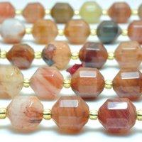 Natürliche rote Lodolite Quarz Facettierte doppelt terminierte Punkt lose Perlen Großhandel Edelstein halb kostbarer Stein Schmuck machen andere