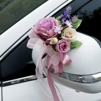 인공 꽃 자동차 장식 공예 이벤트 액세서리 악세사리 결혼식을위한 문 손잡이 장식품