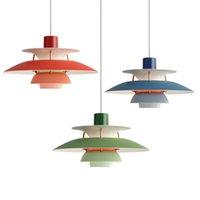 LED Pendant Lamp Colorful Umbrella Chandelier Denmark Louis Poulsen E27 for Living Room Kitchen Diningroom Restaurant Lighting Fixtures