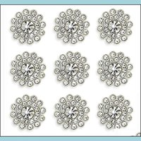 Beads Arts, Crafts Gifts Home & Garden50 Pcs Rhinestone Embellishments Crystal Decoration Brooch Button Flatback Diy Craft For Flower Headba