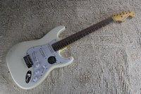 FEN STRATOCASTER Custom Shop White Signature E-Gitarren-Chrom-Hardware-ST-Strat-kundenspezifischer Körper