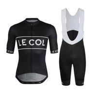 Novo 2021 Le Col Homens Ciclismo Jersey Verão Summer Manga Curta Conjunto Maillot 9D Bib Shorts Bicicleta Roupa Sportwear Camisa De Camisa Vertical Terno
