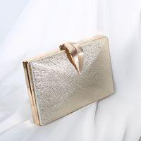 Luxy Moon Women's Wedding Clutch Gold Ladies Handbag Party Purse For Bridal Metal Leaf Lock Shoulder Bag ZD152