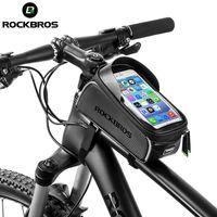 Rockbros 6.0 pollici Touch Screen Touch Screen Borsa per bicicletta Accessori per biciclette Bike Top Borse del telefono anteriore