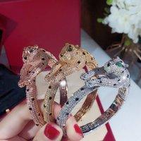 Braccialetti di fascino leopardo Braccialetto d'oro Braccialetto Donne Punk Regalo Luxurious Superior Qualità Bangles di gioielli di qualità