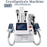 Cryo Cool Shaping Machine Cyolipolysis 팻 냉동 체중 감량 기계 40K Cavitation 초음파 휴대용 장비 살롱 사용