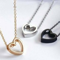Pendant Necklaces Fashion Women Heart Charm Necklace For Jewelry Stainless Steel Chain