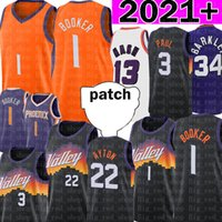 1 Devin Jersey Booker Basketball Jerseys Deandre 22 Ayton Chris 3 Paul Jerseys 레트로 메쉬 Steve 13 Nash Charles 34 Barkley 2021 패치 블랙 퍼플 오렌지 화이트