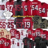 "Trey Lance Jerseys George Kittle Nick Bosa Deubo Samuel Jimmy Garoppolo Trent Williams Raheem Mostert Aiyuk 75ème Patch San Hommes Francisco ""49ers"" Football"